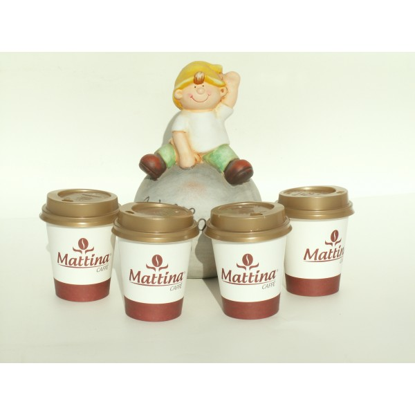Pahare de carton 6 oz Mattina Caffe 50 buc/set